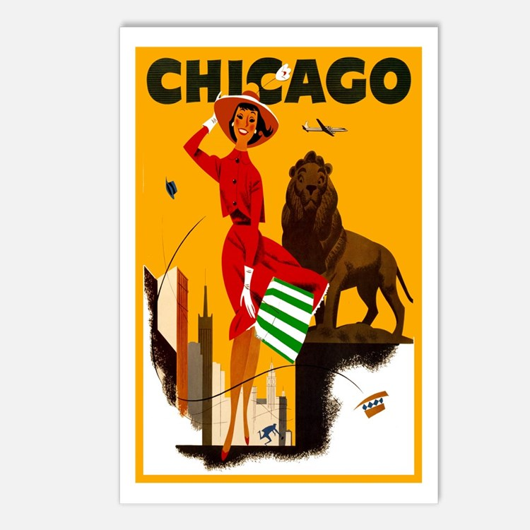 Vintage Chicago Illinois Travel Postcards (Package