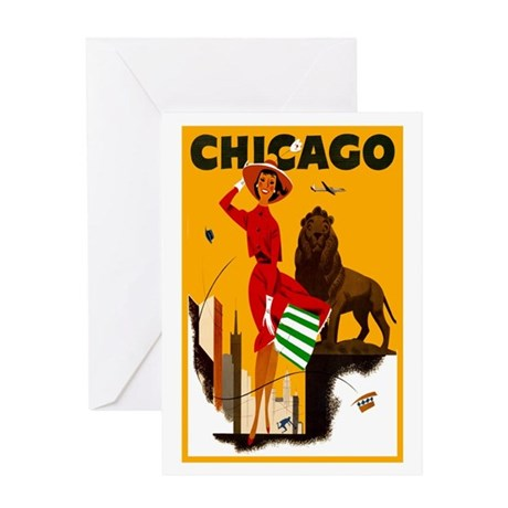 Vintage Chicago Illinois Travel Greeting Card