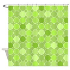 Lime Green Circles Shower Curtain
