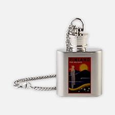 Vintage Finland Travel Flask Necklace