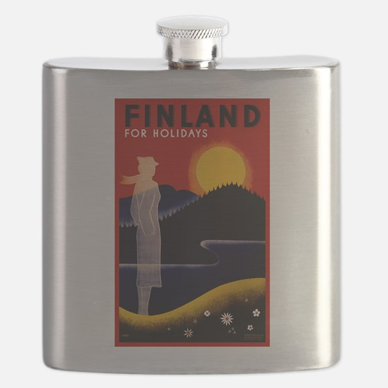 Vintage Finland Travel Flask