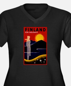 Vintage Finland Travel Plus Size T-Shirt