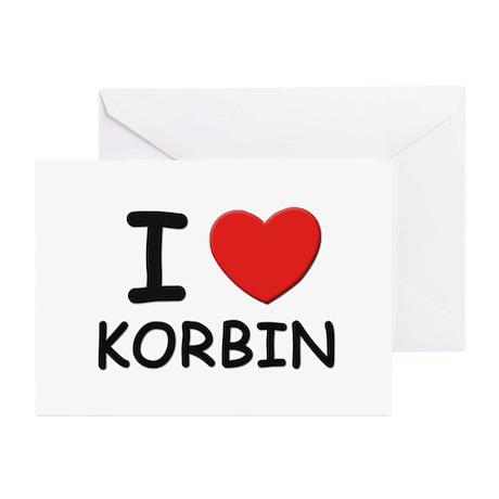 I love Korbin Greeting Cards (Pk of 10)
