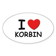 I love Korbin Oval Decal