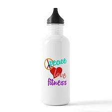 Peace Love Fitness Water Bottle