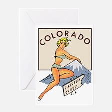 Colorado Pinup Greeting Card