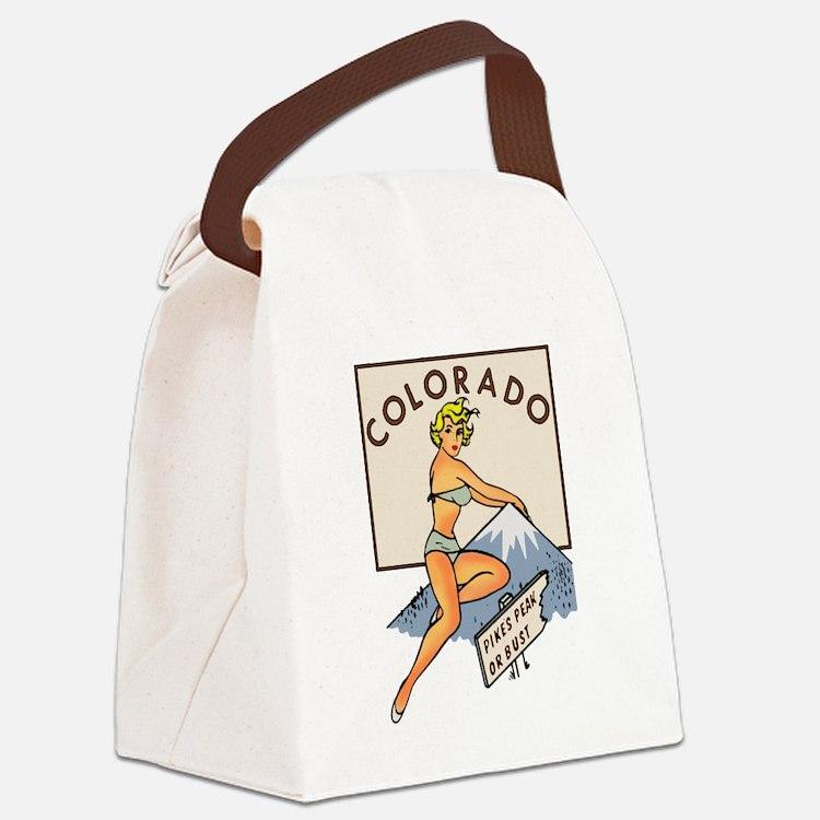 Colorado Pinup Canvas Lunch Bag