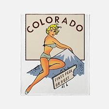 Colorado Pinup Throw Blanket