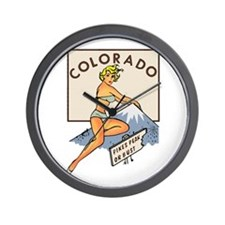 Colorado Pinup Wall Clock