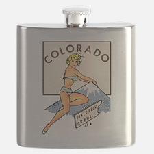 Colorado Pinup Flask