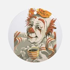 Coffee and Clown Ornament (Round)