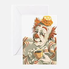 Coffee and Clown Greeting Card