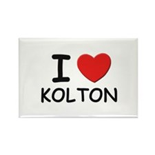 I love Kolton Rectangle Magnet