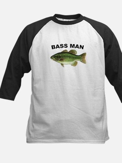 Bass Man ( Ass Man ) Fishing Kids Baseball Jersey