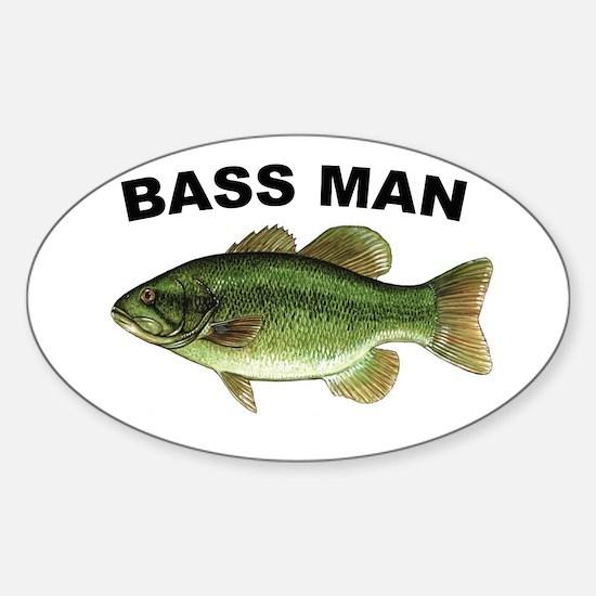 Bass Man ( Ass Man ) Fishing Oval Decal