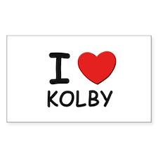I love Kolby Rectangle Decal