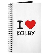 I love Kolby Journal