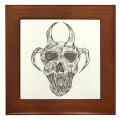 Kidd Skull Framed Tile