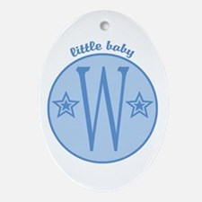 Baby W Oval Ornament