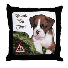 Throw Pillow - toni