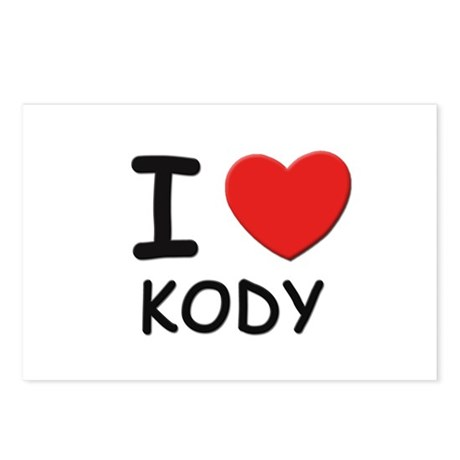 I love Kody Postcards (Package of 8)