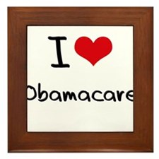 I Love Obamacare Framed Tile