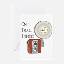 One,Two, Three! Greeting Card
