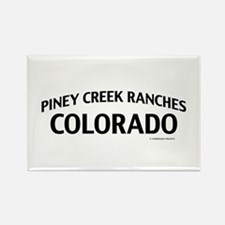 Piney Creek Ranches Colorado Rectangle Magnet