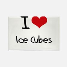 I Love Ice Cubes Rectangle Magnet