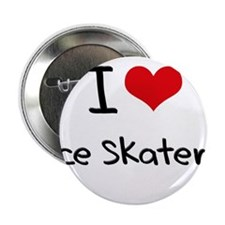 """I Love Ice Skaters 2.25"""" Button"""