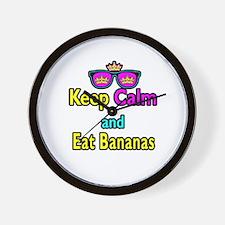Crown Sunglasses Keep Calm And Eat Bananas Wall Cl