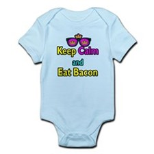 Crown Sunglasses Keep Calm And Eat Bacon Infant Bo