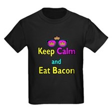 Crown Sunglasses Keep Calm And Eat Bacon T