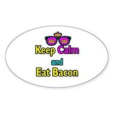 Crown Sunglasses Keep Calm And Eat Bacon Decal
