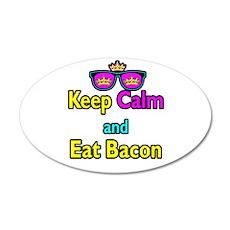 Crown Sunglasses Keep Calm And Eat Bacon 35x21 Ova