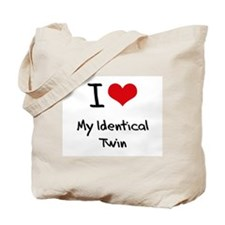 I Love My Identical Twin Tote Bag
