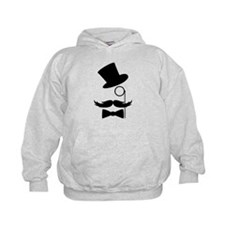 Funny Mustache Face With Monocle Hoodie