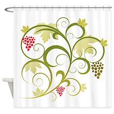 Cute Retro Grape Vine Shower Curtain