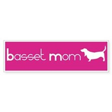 Basset Mom Bumper Bumper Sticker