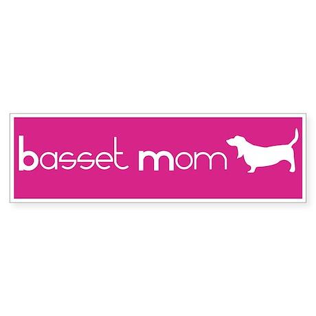 Basset Mom Bumper Sticker