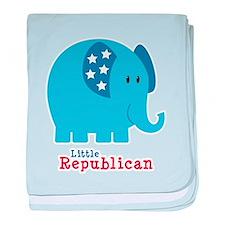 Little Republican baby blanket