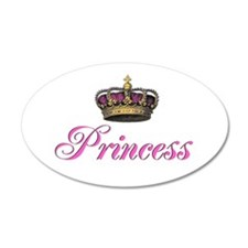 Pink Princess with crown Wall Sticker