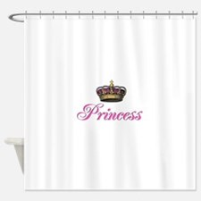 Pink Princess with crown Shower Curtain