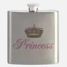 Pink Princess with crown Flask