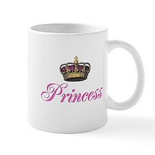 Pink Princess with crown Small Mug