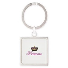 Pink Princess with crown Keychains