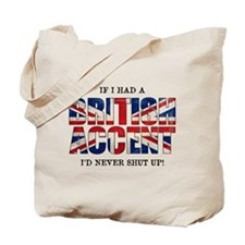 British Accent Tote Bag