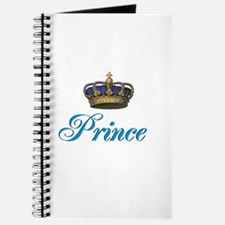 Blue Prince text with crown Journal