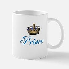 Blue Prince text with crown Small Mug
