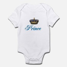 Blue Prince text with crown Body Suit
